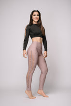 Sophia Laser-Twist Legging Dusty rose - Beat Outdoor Gear