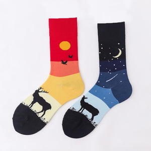 Ma Vie Fun Socks gift box-Asymmetrical 3- Pack#6