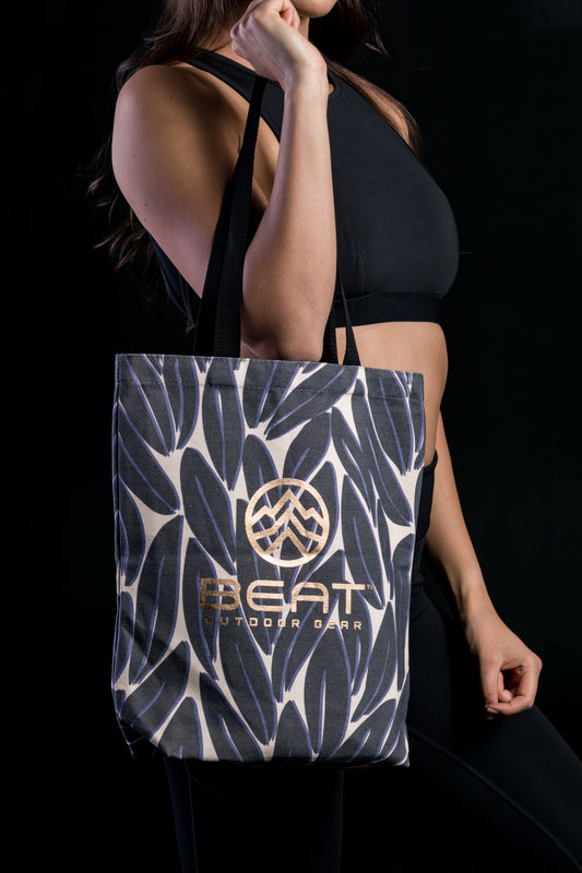 Leaf Print Canvas Bag - Beat Outdoor Gear