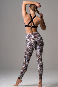 High Waist Legging Leo print