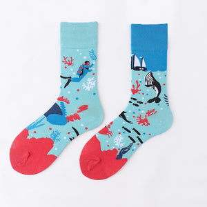 Ma Vie Fun Socks gift box-Asymmetrical 3- Pack#10