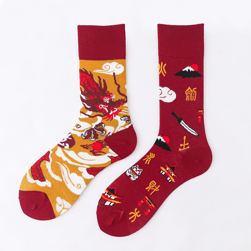Ma Vie Fun Socks gift box-Asymmetrical 3- Pack#1