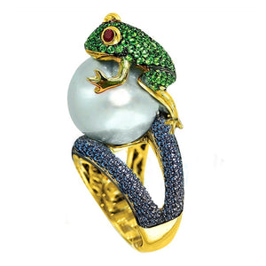 Pearl Frog Ring
