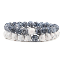 Load image into Gallery viewer, Bracelet Black and White,White and Blue Weathered,White and Aqua,White and Blue,Lava and Purple,White and Green,White and Orange