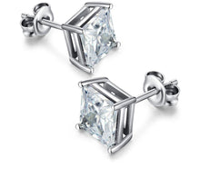 Load image into Gallery viewer, 925 Sterling Silver Cubic Zirconia Stud Earrings