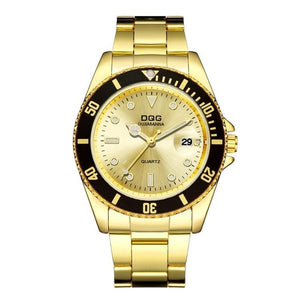 DELUXE Classic Gold Quartz Watch