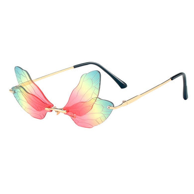 Dragonfly Wings Boho Rimless Sunglasses