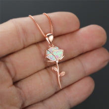 Load image into Gallery viewer, HOLO Rose Necklace