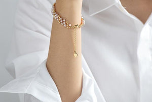 Twisted Natural Freshwater Pearl Bracelet