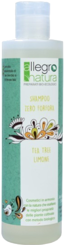 Shampoo Zero Forfora: Limone e Tea Tree Bio
