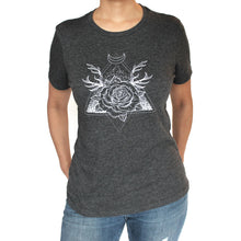 Load image into Gallery viewer, Twilight Rose Graphic T-Shirt, Dark Gray Heather