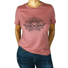 Load image into Gallery viewer, Lotus Graphic T-Shirt, Heather Mauve