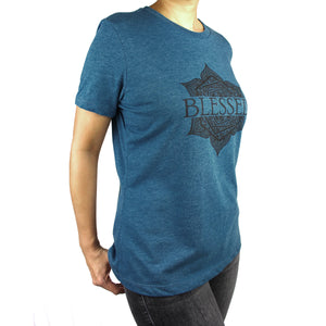 Blessed Graphic T-Shirt, Heather Teal