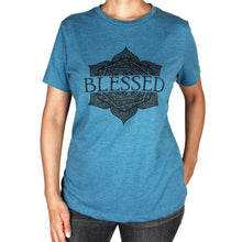 Load image into Gallery viewer, Blessed Graphic T-Shirt, Heather Teal