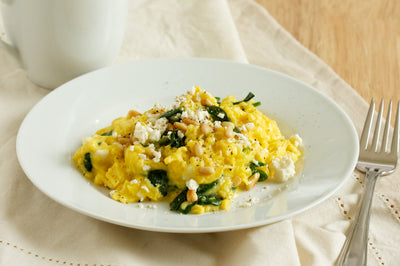 Goat Cheese & Spinach Scramble
