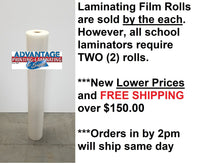 School Laminating Film, price per roll (13+ quantity)
