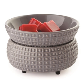 Dimpled Ceramic Grey Electric Wax Burner