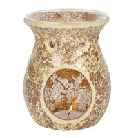 Large Gold Crackle Burner