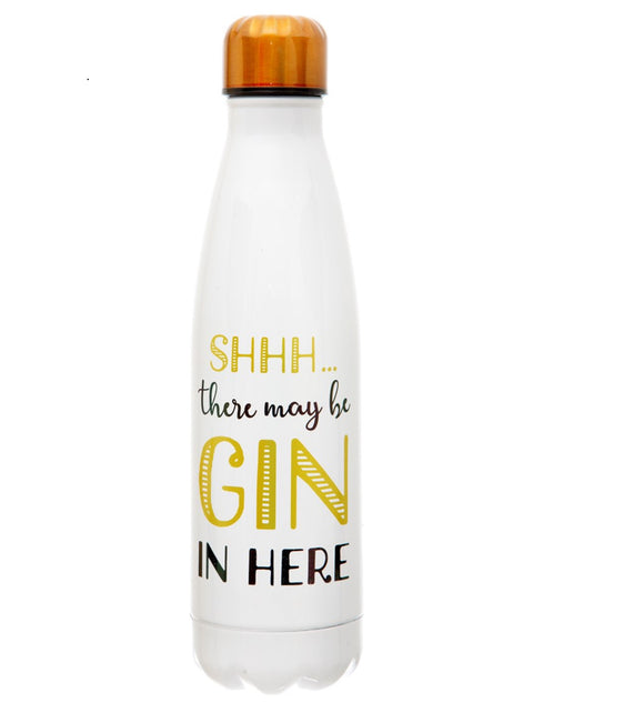 Shhh..There's Gin in here stainless steel bottle
