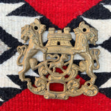 Vintage Brass Lion Wall Plaque