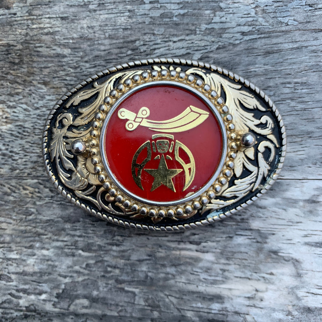 Vintage Fancy Shriners Belt Buckle
