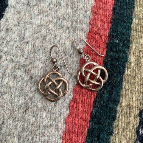 Vintage Sterling Celtic Earrings