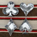 Vintage Set of (4) Playing Card Suits Trinket Dishes