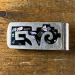 Vintage Abalone 'LISA' Engraved Money Clip
