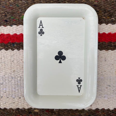 Vintage Ace of Clubs Stash Tray