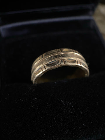 Vintage 14K Gold Filled Hand Chase Band 6.25
