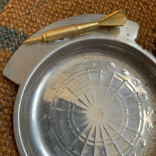 Vintage Silver Toned and Brass Dart Trinket Dish
