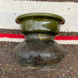 Vintage Green Glazed Pilar Candle Holder