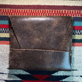 Vintage Leather Envelope with Pocket