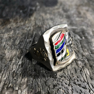 1940's/50's Mexican Biker Souvenir Eagle Warrior Ring 11