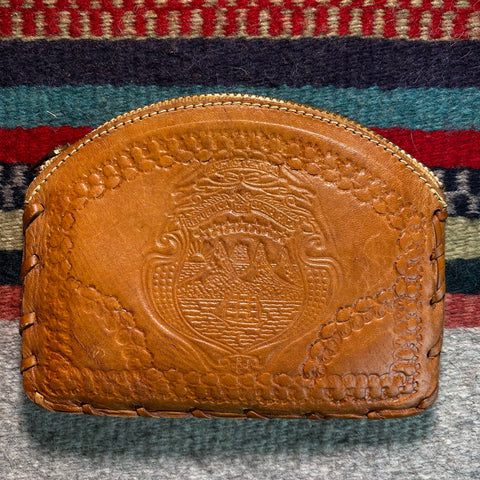Vintage Tooled 'Costa Rica' Coin Purse