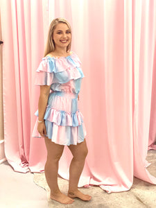 Cotton Candy Ruffle Dress