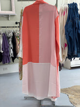 Load image into Gallery viewer, Peach Color Block Buttondown Maxi Dress