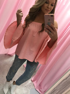 Pink Dream Off the Shoulder Top