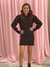 Load image into Gallery viewer, Polka Dot Sweater Dress Body Con