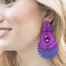 Load image into Gallery viewer, Sammy Purple Earrings