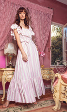 Load image into Gallery viewer, Heather Pink Stripe Maxi Dress