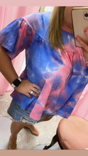 Load image into Gallery viewer, Tie Dye Baby Doll Top