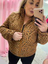 Load image into Gallery viewer, Leopard Print Puff Jacket