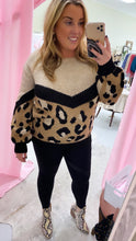 Load image into Gallery viewer, Half & Half Leopard Sweater