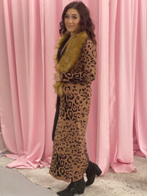 Load image into Gallery viewer, Leopard Fur Kimono Sweater