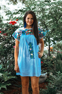 Mamacita Mexican Embroidered Dress
