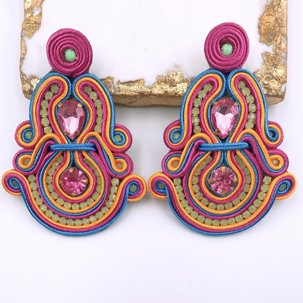 Jane Multi Pink Earrings