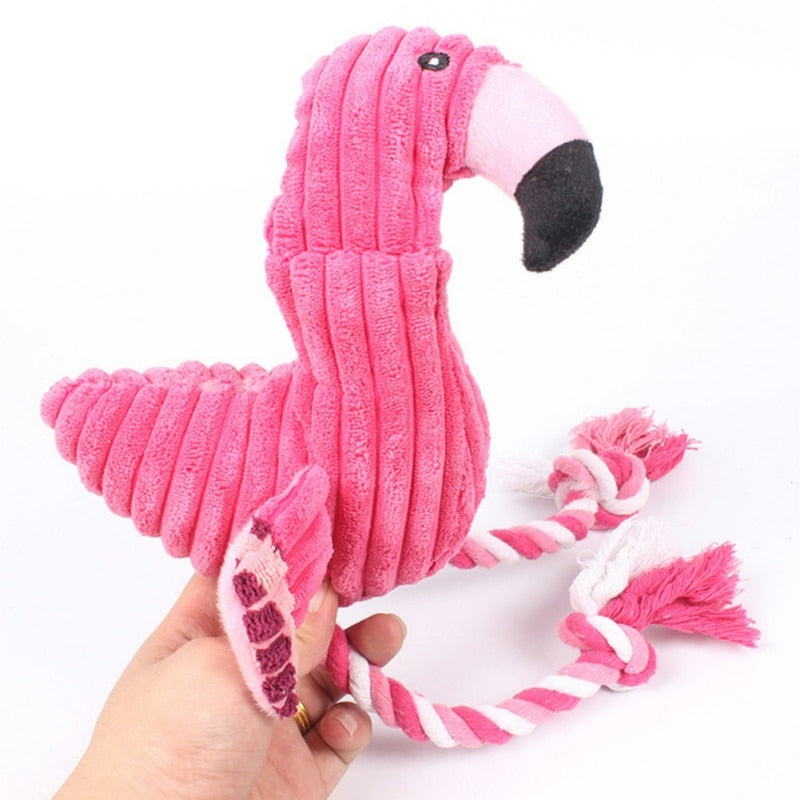 Pet Bite Chew Toy Flamingo