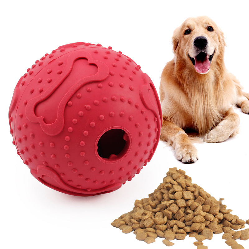 Rubber chew ball