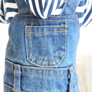 Denim Pet Jumpsuit